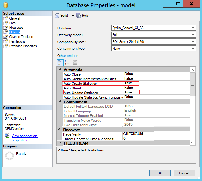Тюнинг SQL Server 2012 под SharePoint 2013-2016. Часть 2 - 21
