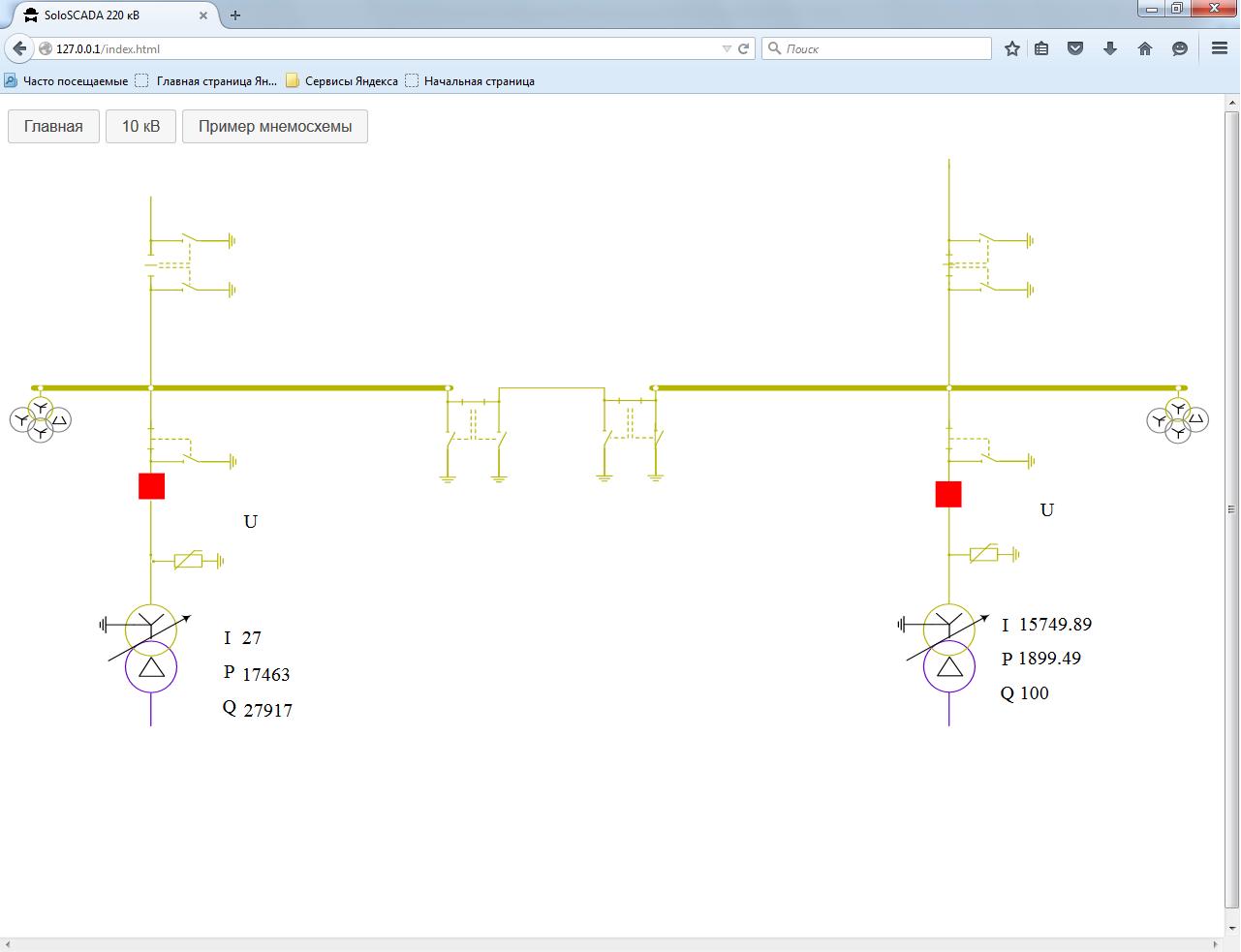 Первые шаги к Web SCADA-системе. Оживляем мнемосхему в браузере с помощью AngularJS - 3