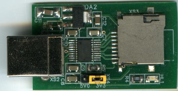 Анатомия и клонирование USB адаптера для SD-карты - 1