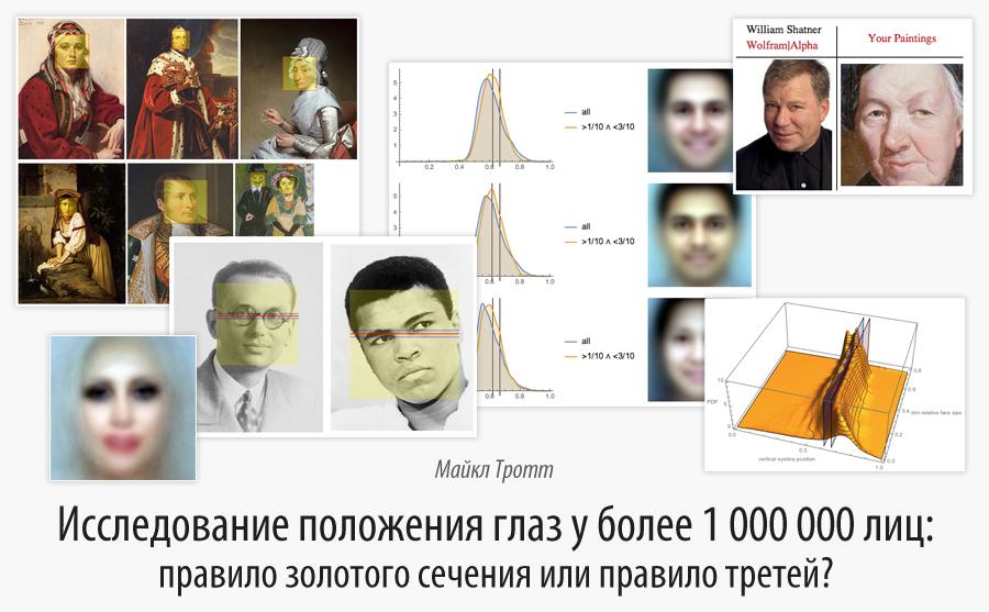 Исследование положения глаз у более 1000000 лиц: правило золотого сечения или правило третей? - 1