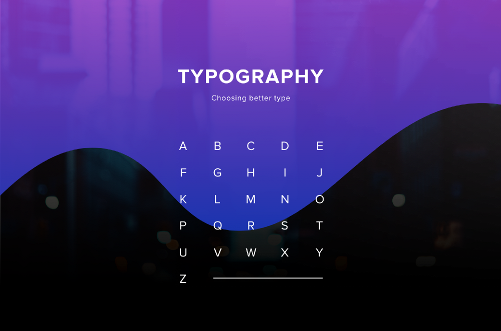 Типографика: процесс выбора шрифта - 1