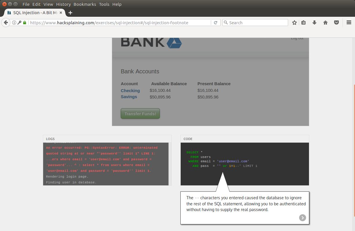 Hacksplaining — интерактивный курс по веб-уязвимостям - 11
