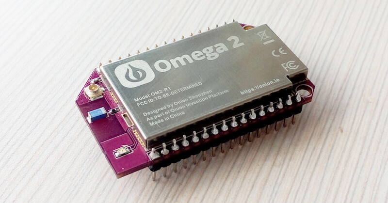 Компания Onion прекращает сбор пожертвований на микрокомпьютер Omega 2 - 1