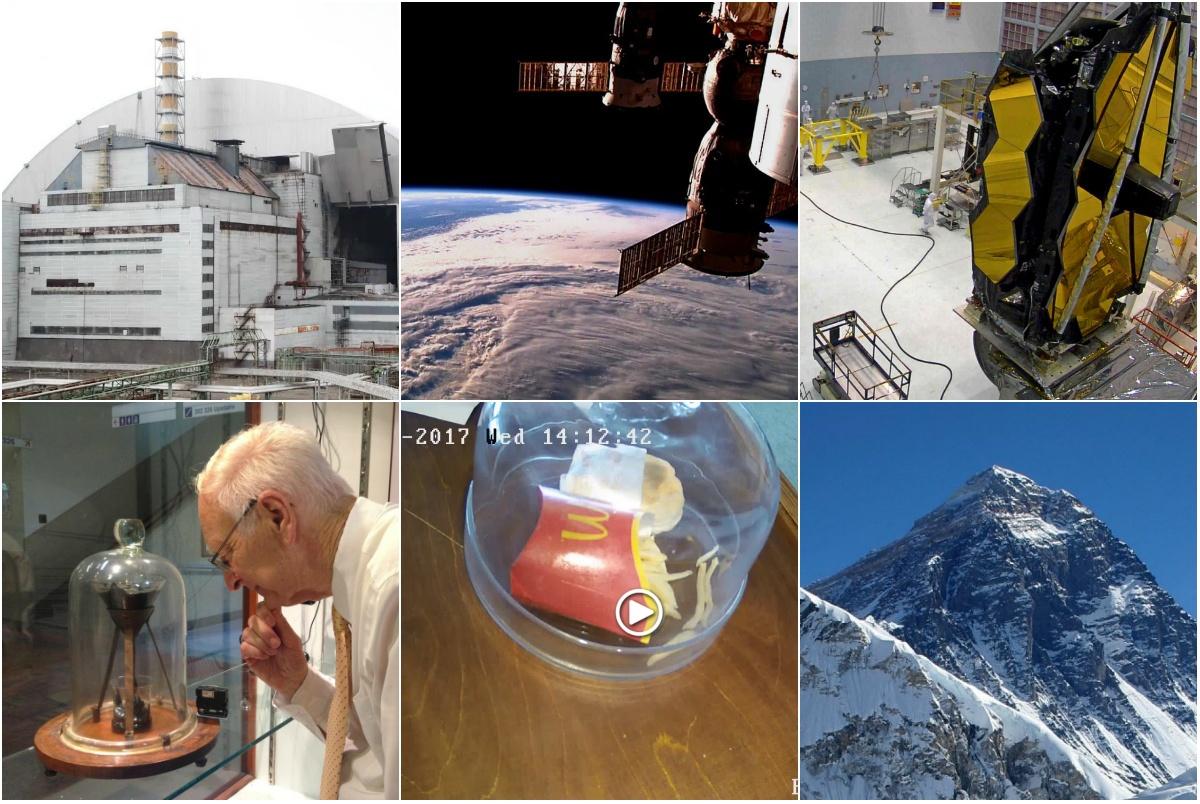 Необычайные объекты видеонаблюдения: ЧАЭС, битум, МКС, гамбургер и другие - 1