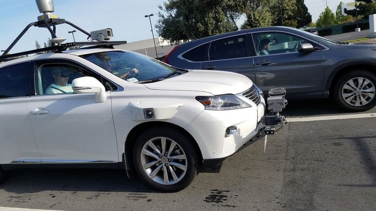 Apple использует в качестве беспилотного автомобиля Lexus