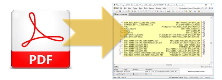 Автоматизированная генерация схемных компонентов из PDF файлов для Altium Designer - 1