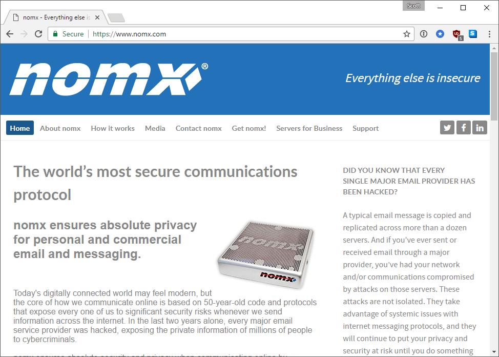 Защищённый почтовый сервер Nomx: мошенничество за $200 - 1