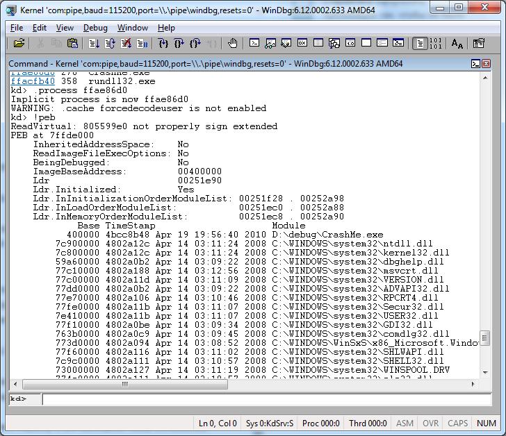 Как удалённо отлаживать через WinDbg не включая отладочный режим Windows - 11