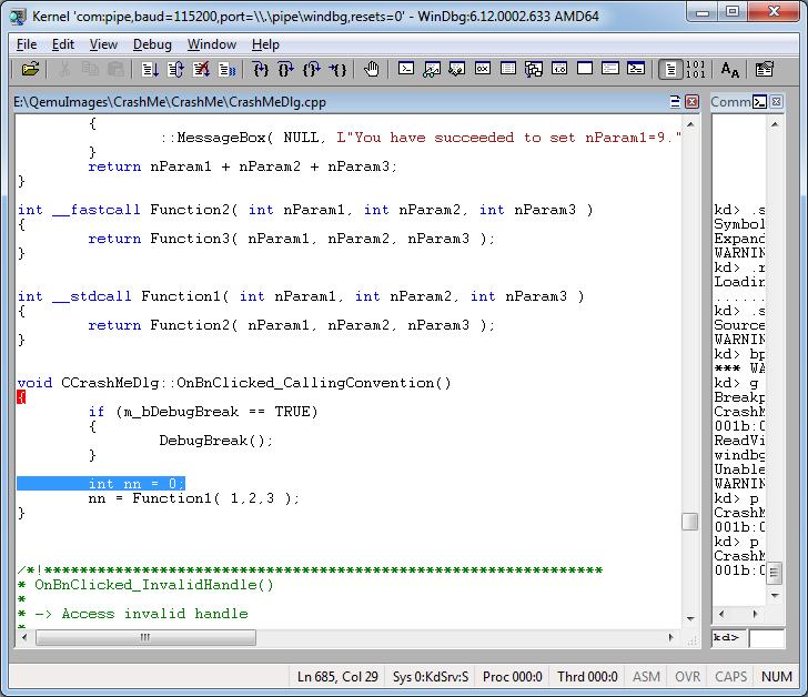 Как удалённо отлаживать через WinDbg не включая отладочный режим Windows - 13