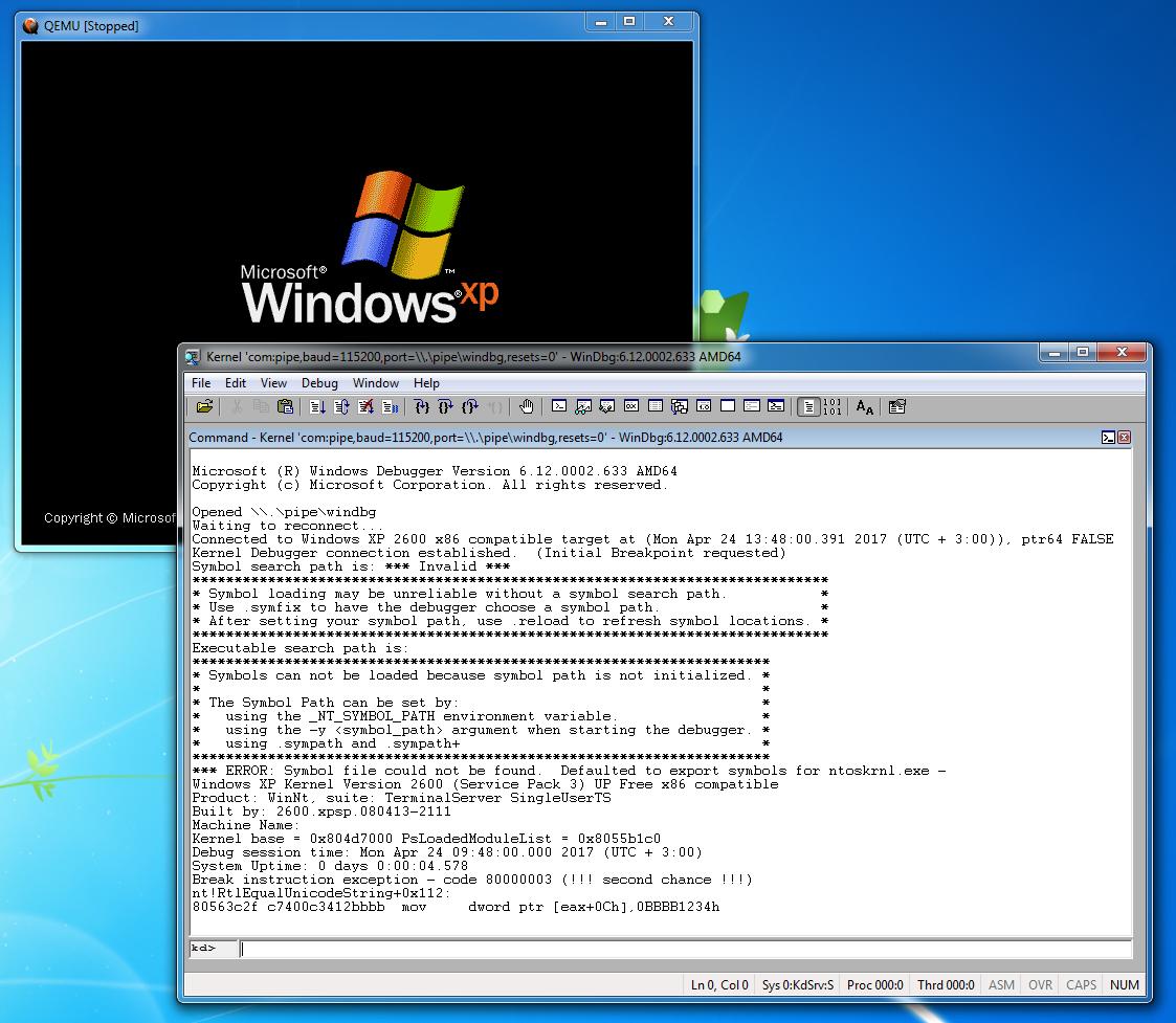 Как удалённо отлаживать через WinDbg не включая отладочный режим Windows - 6