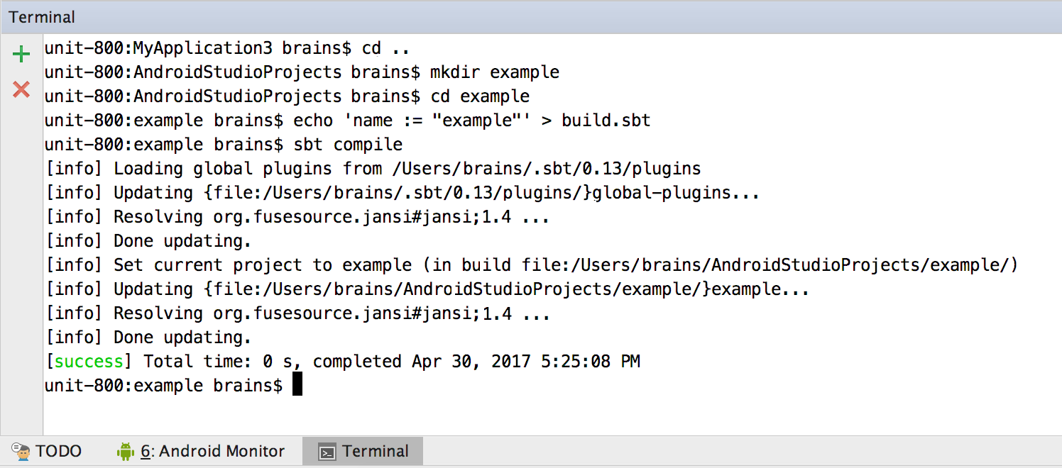 О том как создать простое Scala SBT-приложение для Android - 2