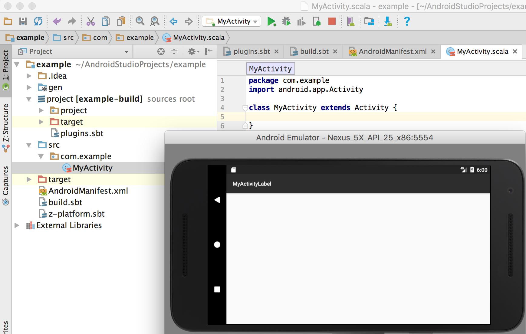 О том как создать простое Scala SBT-приложение для Android - 3