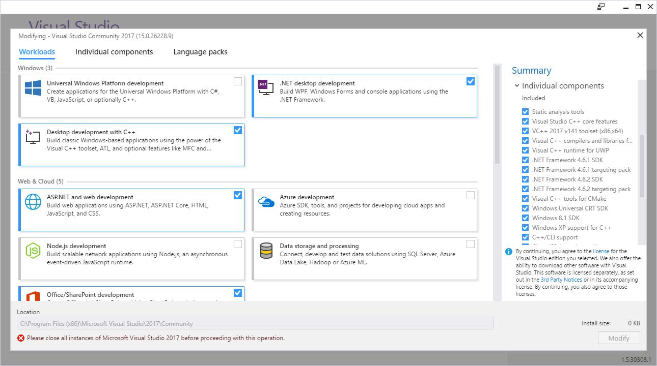 Рисунок 1 - Новый установщик Visual Studio