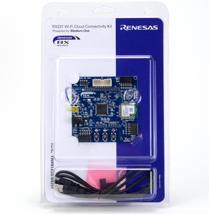 Основой набора Renesas RX231 Wi-Fi Cloud Connectivity Kit служит микроконтроллер Renesas RX231