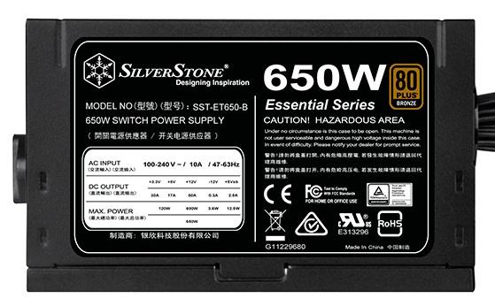 К блокам питания SilverStone ET-550B и ET-650B приложила руку компания Sirtec
