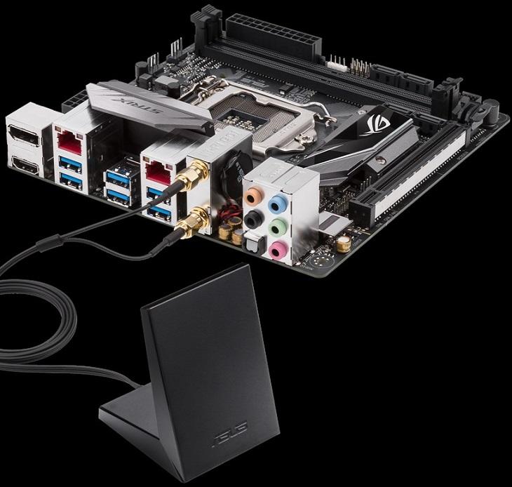 Беспроводной адаптер с поддержкой MU-MIMO уже входит в состав платы Asus ROG Strix H270I Gaming