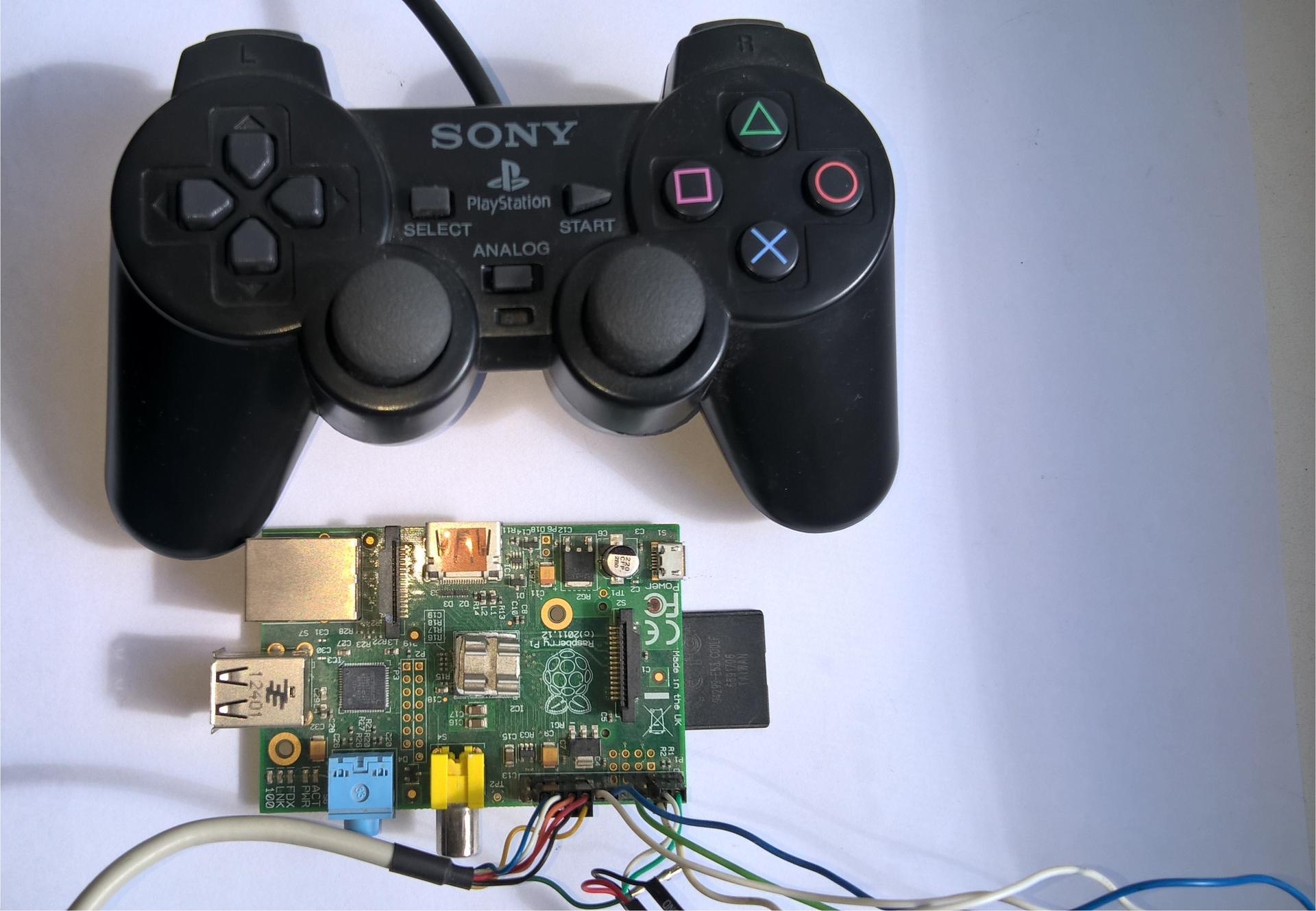 Подключаем геймпад от PS1-PS2 к Raspberry pi - 1