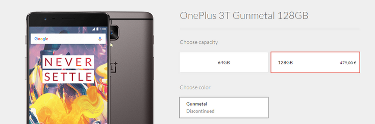 Смартфон OnePlus 3T в старшей модификации более недоступен на официальном сайте