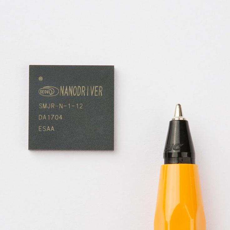 Размеры микросхемы-драйвера NanoDriver — 13,5 x 13,5 x 1,42 мм
