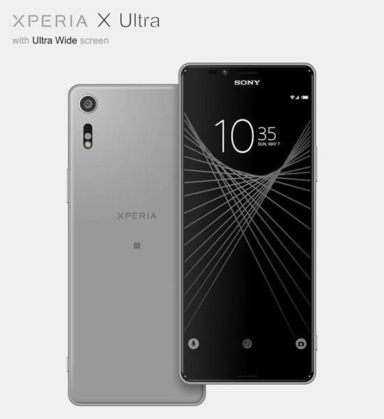 Дисплей смартфона Sony Xperia X Ultra диагональю 6,4 дюйма имеет соотношение сторон 21:9