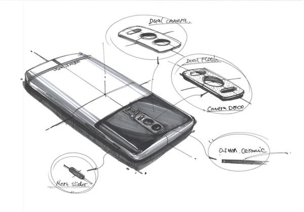Эскизы OnePlus 5 демонстрируют смартфон с четырьмя камерами