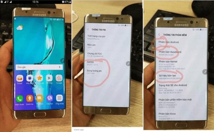 Опубликованы фотографии смартфона Samsung Galaxy Note7R