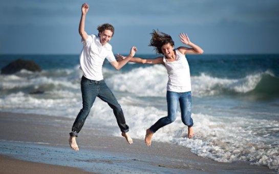 Человек может стать счастливым у моря