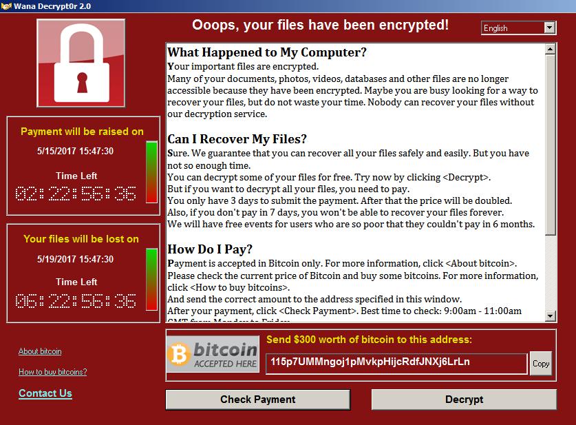 Ведется массовая атака криптором Wana decrypt0r 2.0 - 1