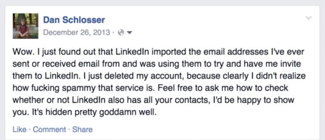 Тёмные паттерны LinkedIn или Почему вам спамят друзья, призывая зарегистрироваться в LinkedIn - 1