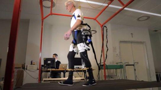 Для пожилых создали экзоскелет, который поможет им увереннее ходить