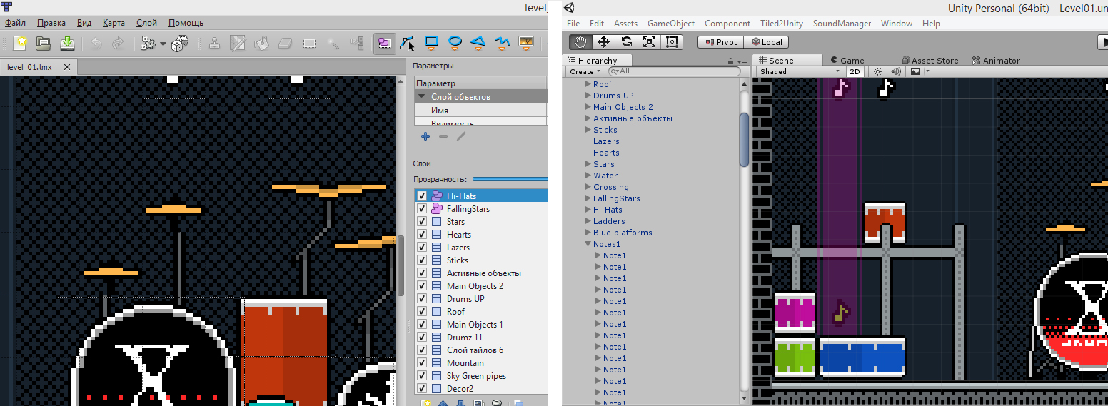 Tiled2Unity: экспорт из Tiled Map Editor в Unity - 5