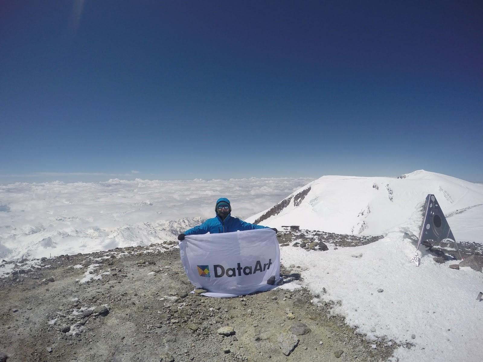 Флаг DataArt над Эльбрусом - 12
