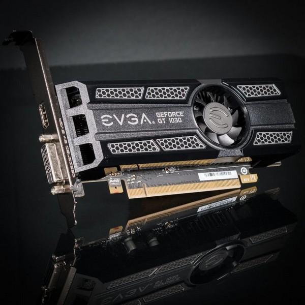 3D-карта GeForce GT 1030 потребляет 30 Вт