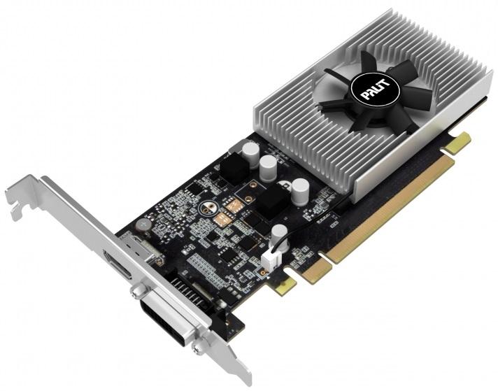 Низкопрофильная карта Palit GeForce GT 1030 потребляет не более 30 Вт