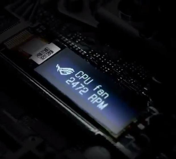 Asus встроила экран OLED в материнскую плату