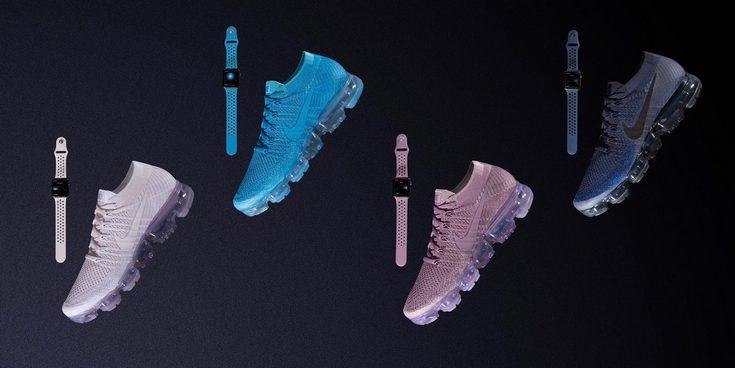 Nike представила новые ремешки для Apple Watch, выход которых приурочен к анонсу новой коллекции кроссовок Air VaporMax Flyknit - 1