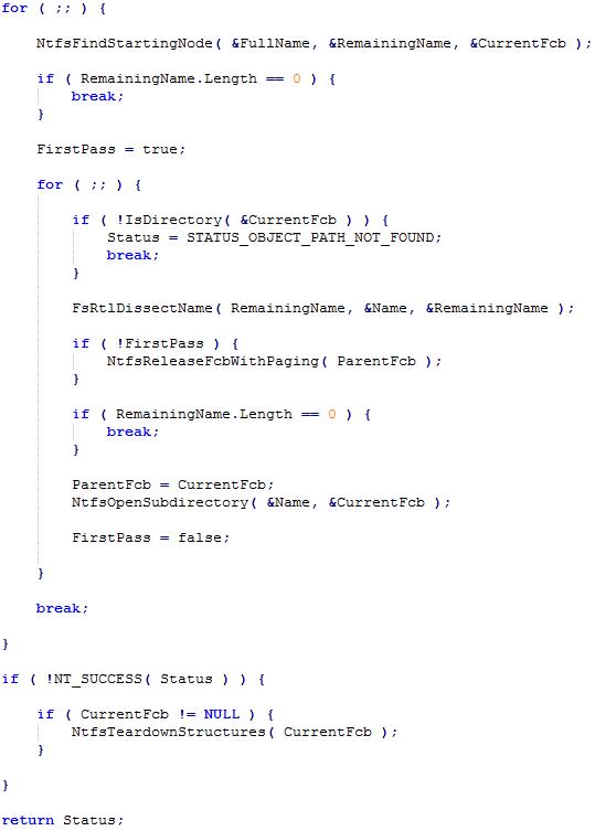 Баг в NTFS, или как подвесить всю систему - 3