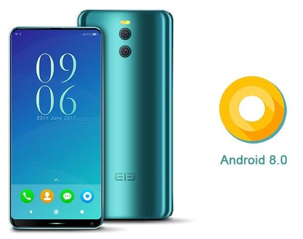 Elephone уже рекламирует безрамочный смартфон с ОС Android 8