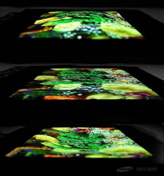 Samsung создала растягивающийся экран AMOLED