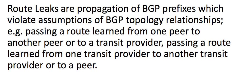 Утечки маршрутов BGP - 1