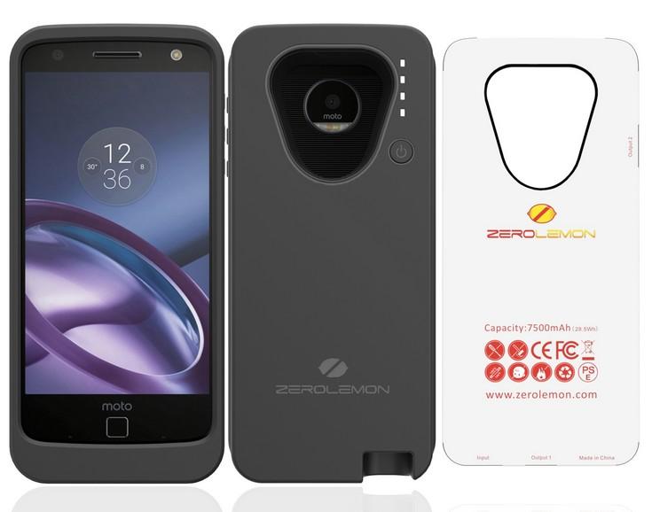 ZeroLemon выпустила чехлы с аккумуляторами для смартфонов Google Pixel и Pixel XL, Moto Z, OnePlus 3 и 3T, а также для iPhone 7 Plus