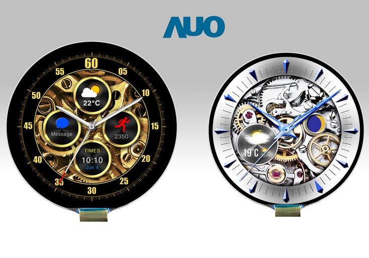 Круглые дисплеи AOU диаметром 1,2 и 1,4 дюйма имеют плотность 326 пикселей на дюйм