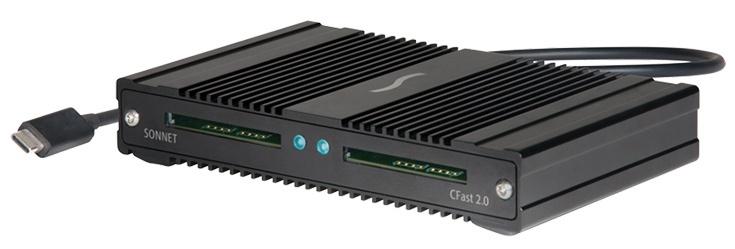 Sonnet SF3 CFast 2.0 Pro Reader может работать одновременно с двумя картами памяти, передавая данные со скоростью 1000 МБ/с