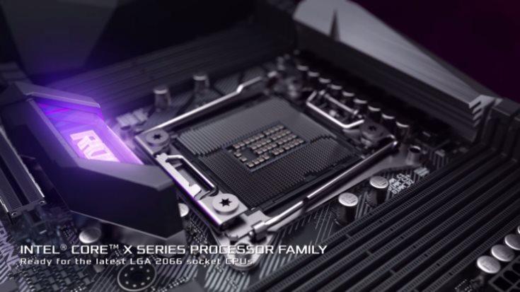 Плата Asus ROG Strix X299-E оснащена восемью слотами для модулей памяти