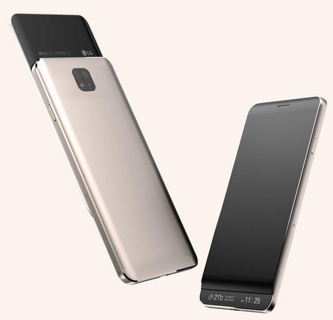 Смартфон LG V30 может быть выполнен в форм-фактор слайдера