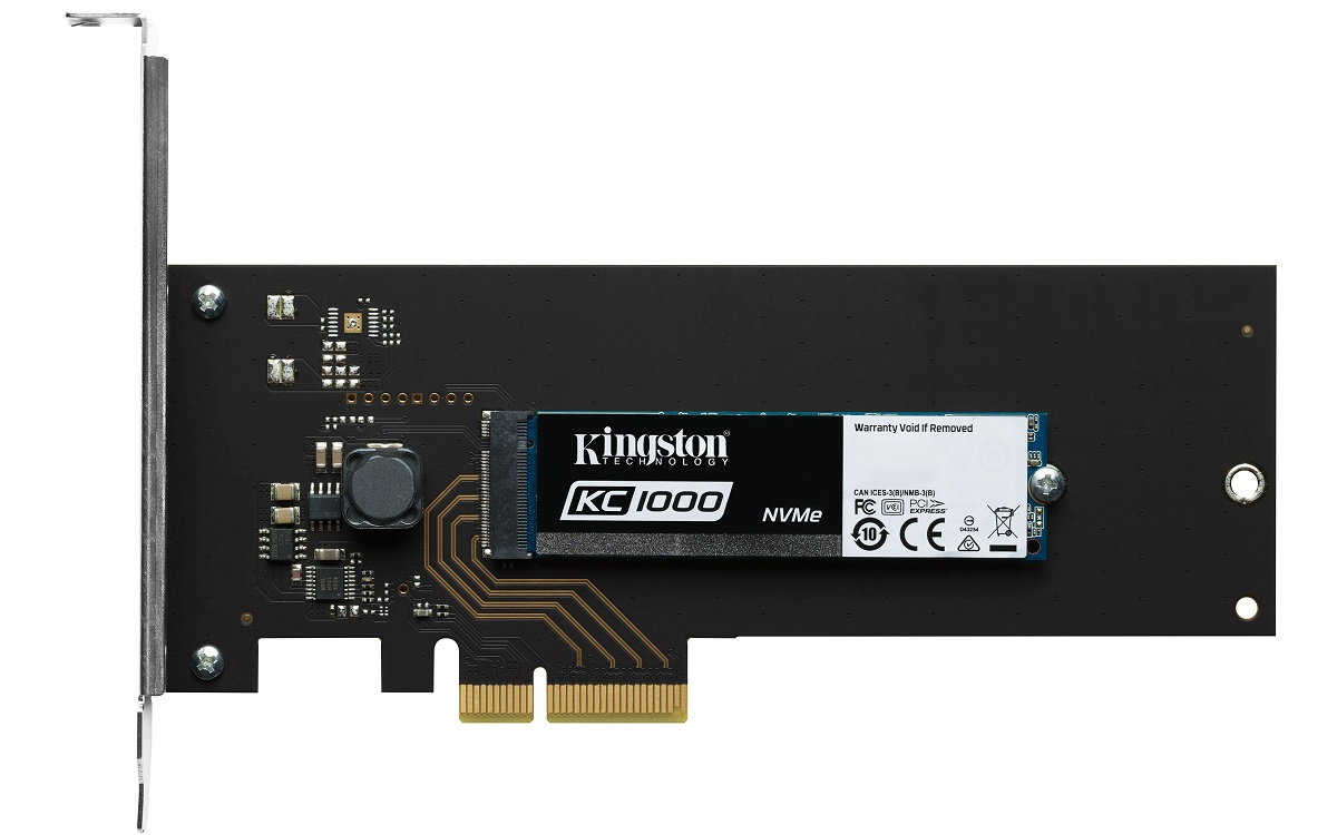 Кому SSD со скоростью чтения 2,7 Гбайт-с? Встречайте флагманский Kingston KC1000 - 2