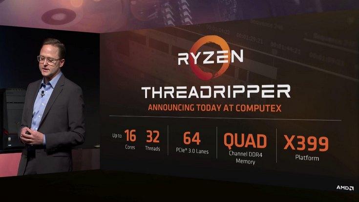 AMD раскрыла подробности о CPU Threadripper