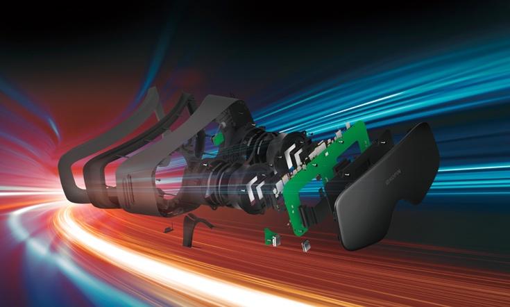 В Elf VR используются легкие и компактные микродисплеи Lightning OLED