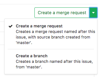 Create Merge Request from Issue