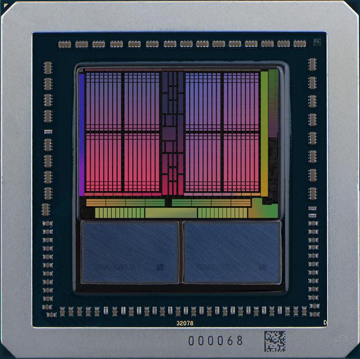 На памяти, расположенной рядом с GPU, нанесена маркировка GPA022GA2656